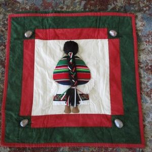 Holiday Folk Art Quilt Wall Hanging Mexican